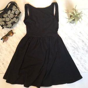 ASOS Black Low/ Open Back Midi Dress